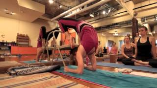 Yoga Tips with Christina Sell - Using a chair to prep for scorpion