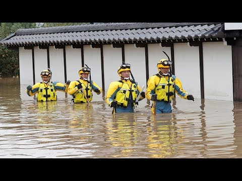 video: Japan typhoon death toll rises to 43 as over 110,000 emergency workers scramble to rescue stranded people