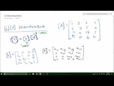 LU Decomposition Using Gaussian Elimination  - Applied Numerical Methods