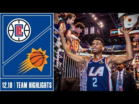 Clippers at Suns Game Highlights | 12/10