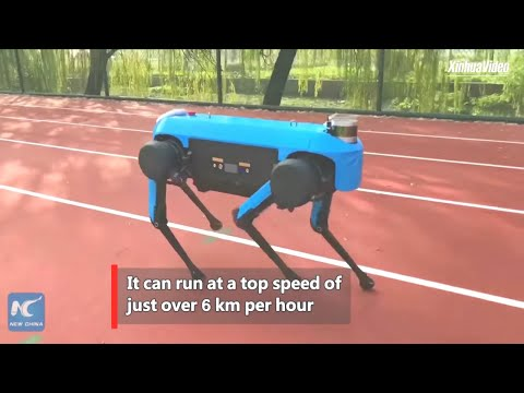 New China TV - Jue Ying Autonomous Robot Testing [1080p]