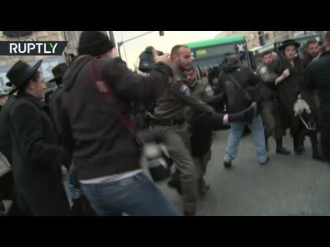 Anti-IDF protest turns violent as Jewish protesters clash with police
