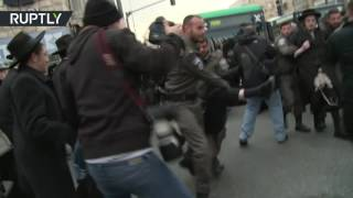 Anti IDF protest turns violent as Jewish protesters clash with police