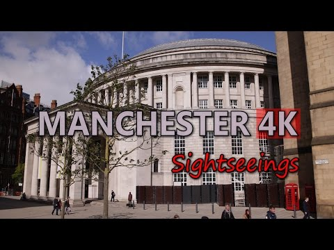 Ultra HD 4K Manchester UK Travel Sightseeing Tourism Top Tourist Attractions UHD Video Stock Footage