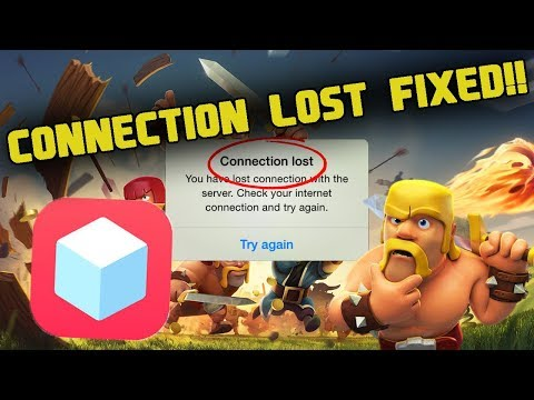TWEAKBOX HACKED CLASH OF CLANS CONNECTION LOST FIX!!!
