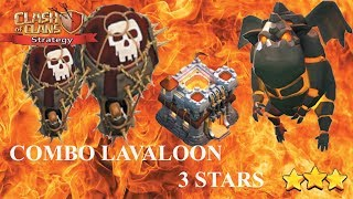 Lavaloon attack th11   War 3 star   Clash of clans strategy