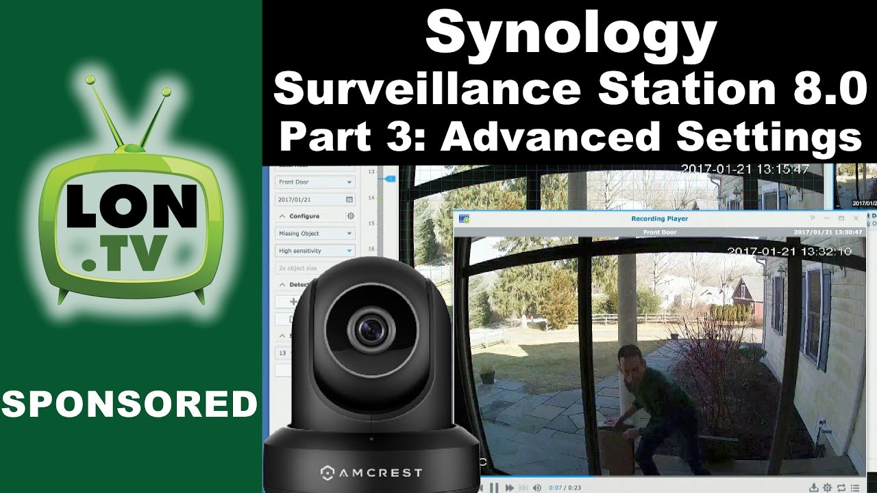 Synology Surveillance Station 8 0 Part 3 : How to Set Up Motion Detection,  Notifications,