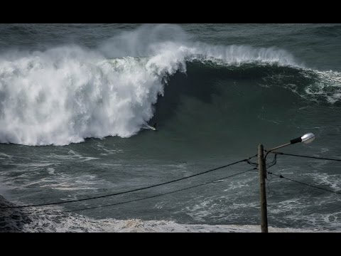GIANT NAZARE FROM A DRONE – Feb 28, 2017
