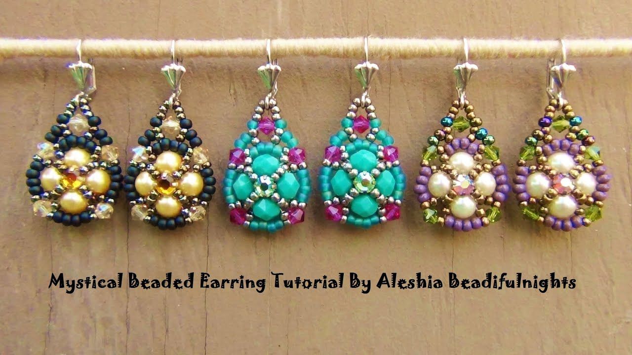 earrings esmeralda tutorial watch video beaded beads youtube