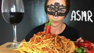 ASMR EATING SOUND REAL ITALIAN PASTA (amatriciana pasta)  MUKBANG