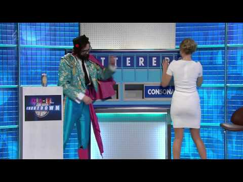 Rachel Riley Hot Ass In White Dress 8 Out of 10 Cats Does Countdown HD 19 04 13