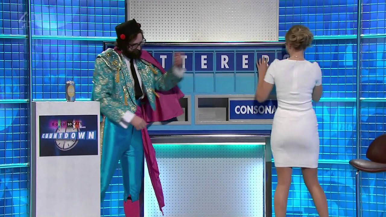 Rachel Riley Hot Ass In White Dress 8 Out Of 10 Cats Does Countdown Hd 19 04 13 Youtube
