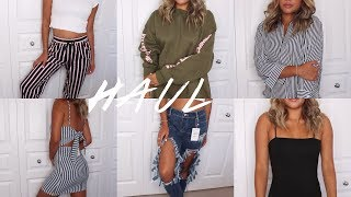 BACK TO SCHOOL TRY-ON CLOTHING HAUL | Maria Bethany