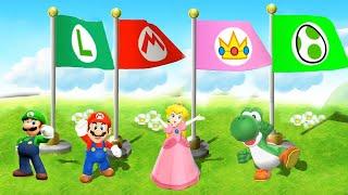 Mario Party 9 - All Minigames - Mario vs luigi vs Peach vs yoshi (Master Difficulty)