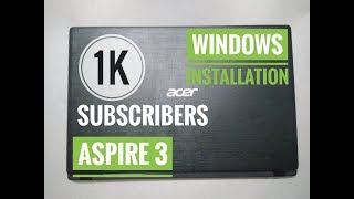 Install Windows In Acer (aspire3) A315-31-C0A7 Laptop Using RUFUS.