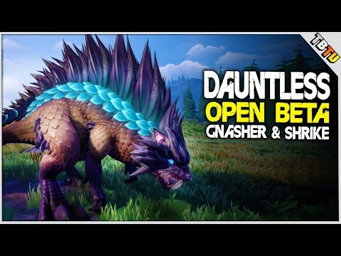 DEFEATING THE ROGUE SHRIKE & GNASHER! Dauntless Open Beta Gameplay E1