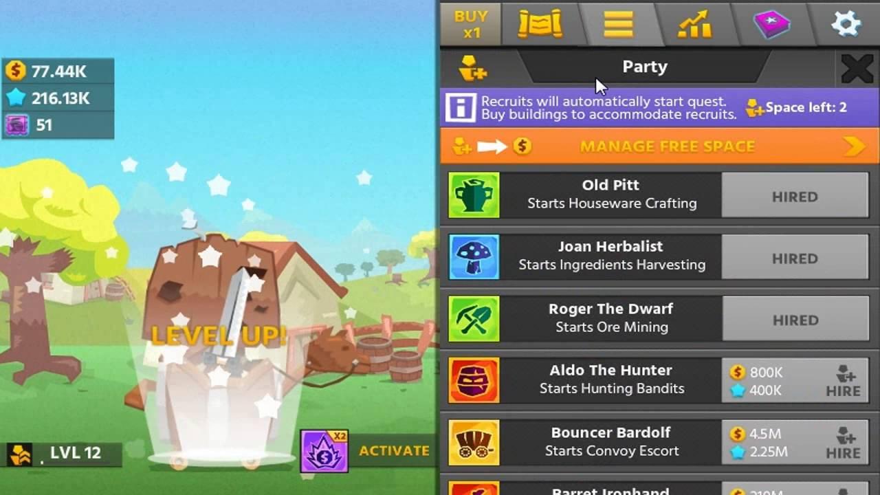 Hero Simulator Idle Adventures GamePlay 12 FIRST RESET