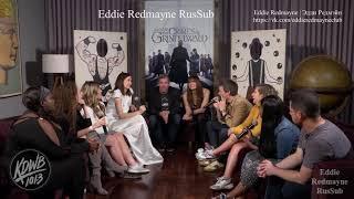 Эдди Редмэйн и Кэтрин Уотерстон о ругательствах на съемочной площадке (субтитры)