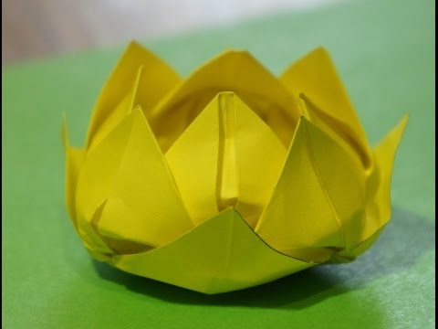 Step by step origami for beginners Water Lily (Lotus Flower)