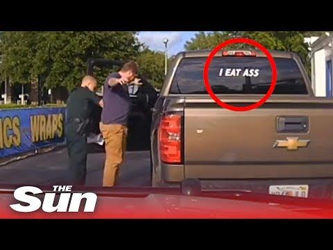 """man-arrested-for-""""i-eat-ass""""-bumper-sticker"""