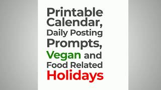 2019-2020 Content Calendar Template for Vegan Marketers, by Design Vegan