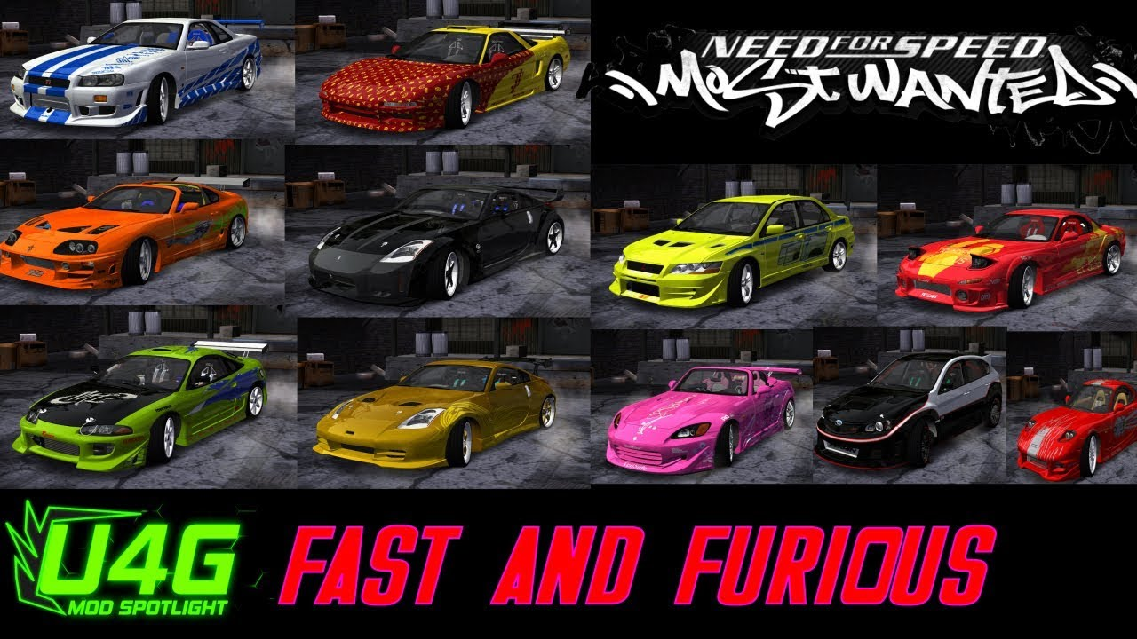 Global Fast And Furious Car Pack Need For Speed Most Wanted 2005