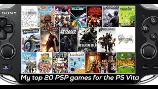 My Top 20 PSP Games To Play on PS Vita