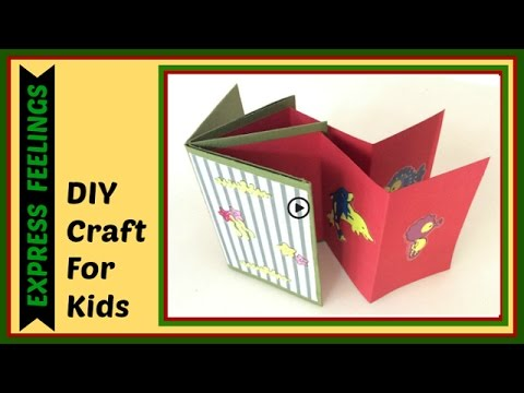 Diy Craft For Kidshow To Make Mini Scrapbook Photo Album Diy
