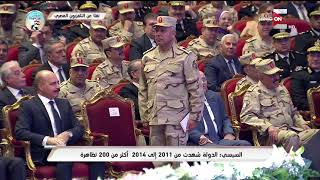 السيسي : كامل الوزير من أفضل ظباط الجيش