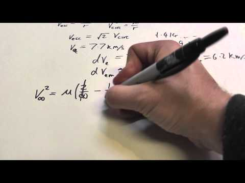 Orbital Mechanics on Paper 3 - Escape Velocity