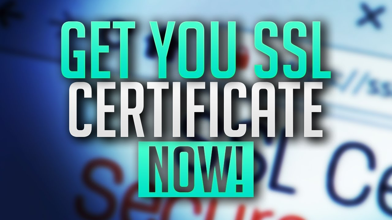 How To Get A Free Ssl Certificate Https For Your Website Youtube