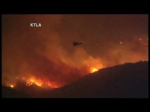 Multiple fires burn thousands of acres in California   Tuesday, 5 December 2017
