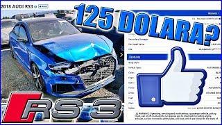 UDAREN AUDI RS3 NA AUKCIJI - POCETNA CIJENA 125 DOLARA!