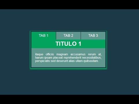 TABS | HTML5 CSS3 JQUERY thumbnail