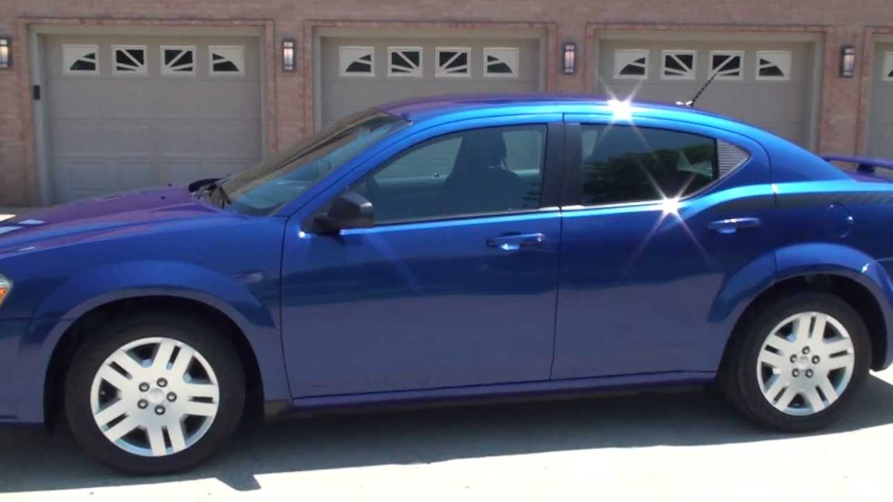 Hd Video 2012 Dodge Avenger Se Blue For Sale See