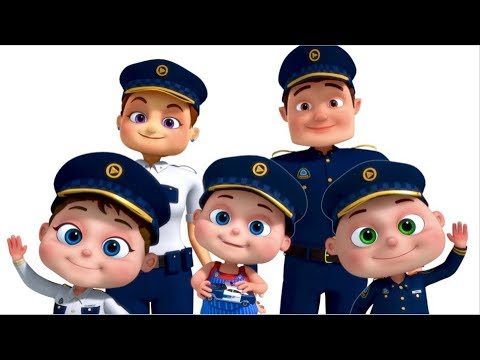 Police Finger Family And More | Nursery Rhymes & Kids Songs | Finger Family Collection