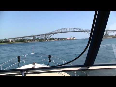 Passing Under the Bluewater Bridge