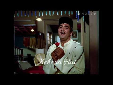 Kehna Hai Aaj Tumse   Classic Best Romantic Whatsapp Status Video   Kishor Kumar   60s