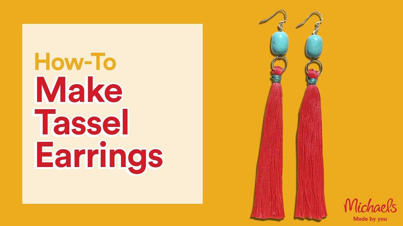 Diy Tassel Earrings Michaels Youtube