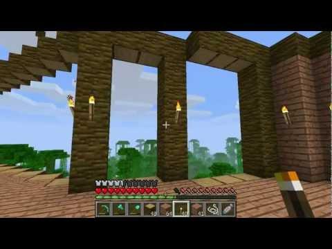 Майнкрафт выживание 04 - Строим дом. Часть 1