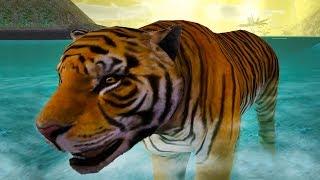 СИМУЛЯТОР МАЛЕНЬКОГО ПИТОМЦА #13 Дикая кошка тигр и лемур - приключение животных с Кидом #ПУРУМЧАТА