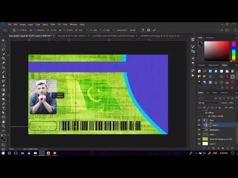 #2 Create School ID Card In Adobe Photoshop Cc 2018