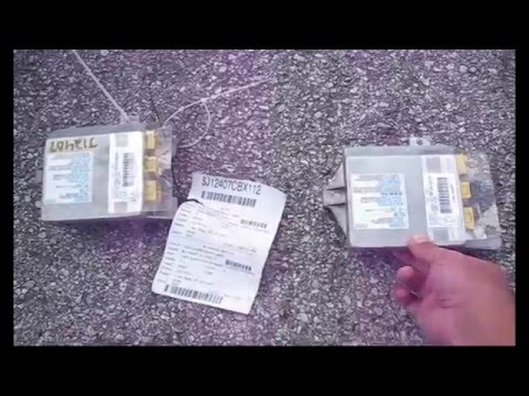Acura Tl 3 2 Types Resetting Airbag Srs Light Part2 Problem Solved