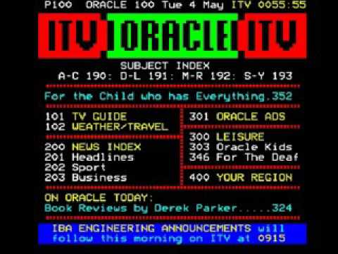 Granada Closedown, ORACLE Page and IBA Testcard Junction (4th May 1982)