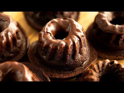 ASMR クグロフのチョコレートケーキ「クグロフの帽子」 Gugelhupf hats Chocolate cake