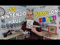 $5 Garage Sale Nintendo Sale Haul Worth $100+ on Ebay! - Flips & Finds #30