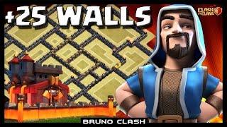 LAYOUT +25 MUROS NO CV10 (25 Walls TH10) - Clash of Clans - Bruno Clash
