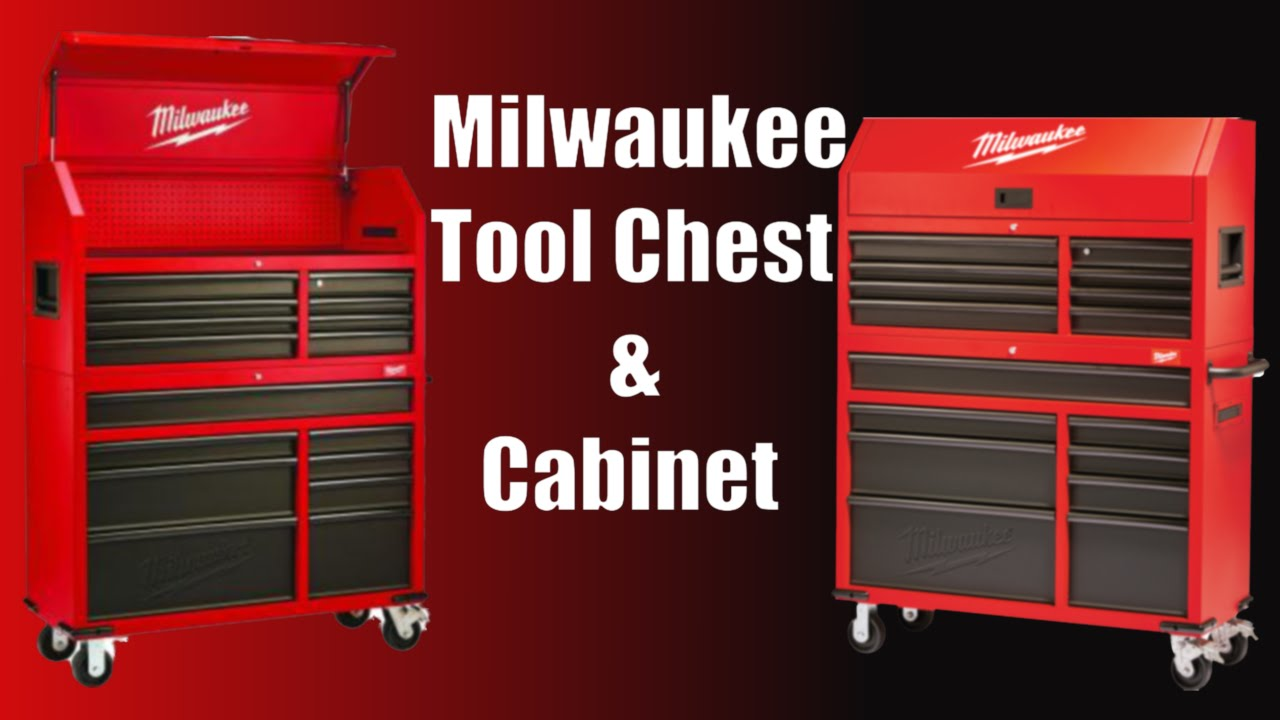 """Milwaukee 46"""" 16-Drawer Tool Chest And Rolling Cabinet Set"""