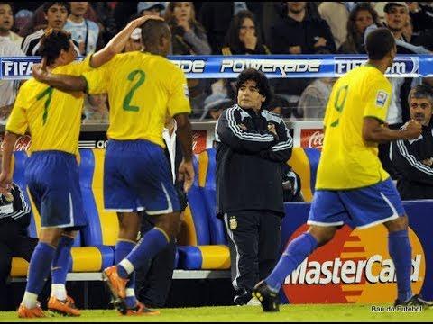 Eliminatórias Copa 2010   Argentina x Brasil - YouTube daadf1819c918