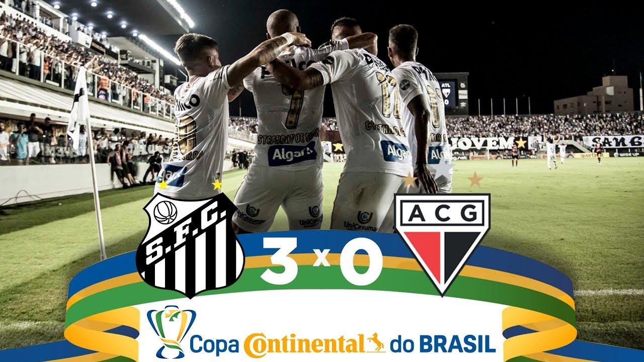Melhores Momentos Santos 3 X 0 Atletico Go Copa Do Brasil 11 04 2019 Youtube